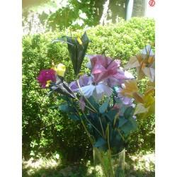 Fleurs en orgami